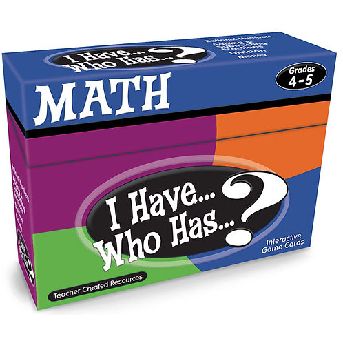 I Have… Who Has…? Math Game - Grades 4-5