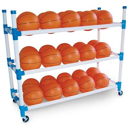 Basketball Cart - 3 Shelves Included Installation Assembly