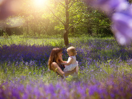 Mummy & Daughter Maternity Session Amongst the Bluebells