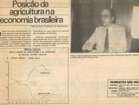 Posição da agricultura na economia brasileira