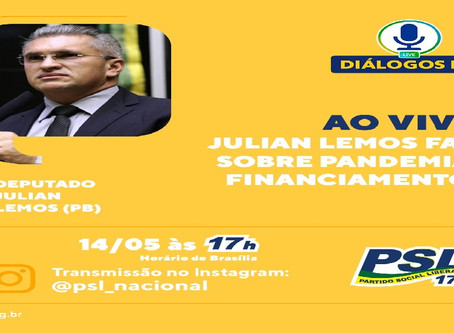 Diálogo PSL - Live 14/05/2020 com Dep. Federal e Vice Presidente do PSL Julian Lemos