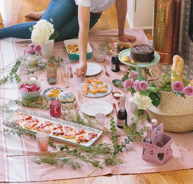 Como preparar um piquenique indoor com a família