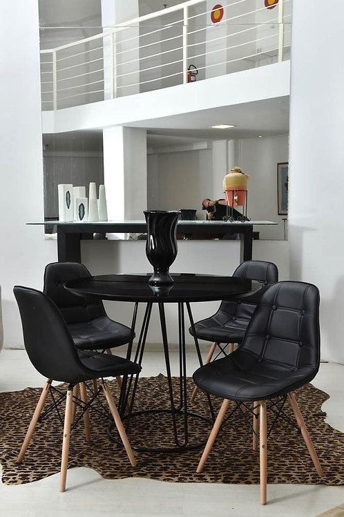 House - Mesa pés de ferro 4 cadeiras Eiffel