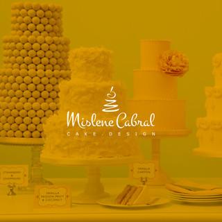 Identidade visual Mislene Cabral Cake Design