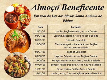 ALMOÇOS BENEFICENTES