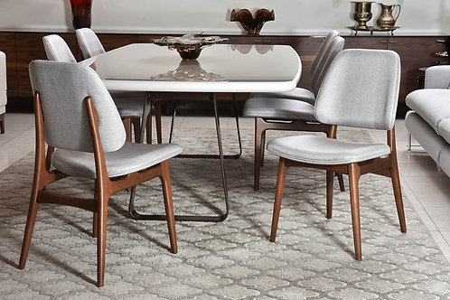 Conceito Sier - Mesa de jantar com 6 cadeiras