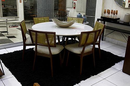 Eletro Nobre - Mesa de jantar 6 cadeiras (Laca)