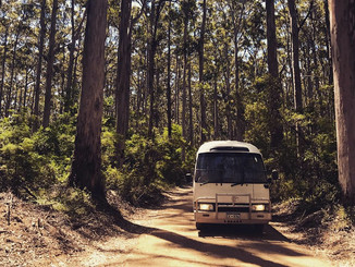 Our little home on wheels, in Margaret River