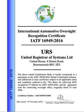 URS. IATF accreditation