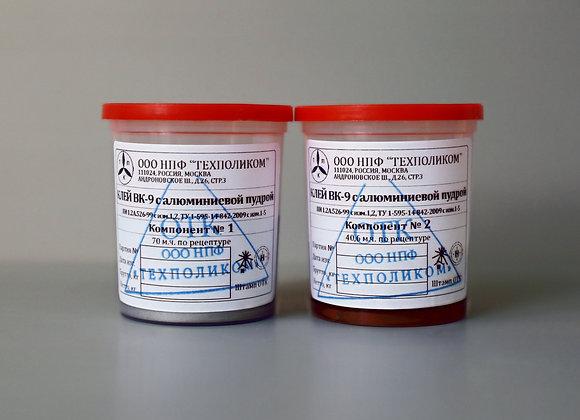 Эпоксидный клей ВК-9 с алюминиевой пудрой 100г