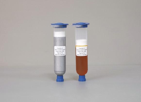 Эпоксидный клей ВК-9 с алюминиевой пудрой в картриджах 50г
