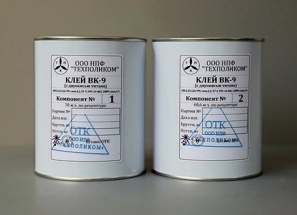 Эпоксидный клей ВК-9 с двуокисью титана 1000г