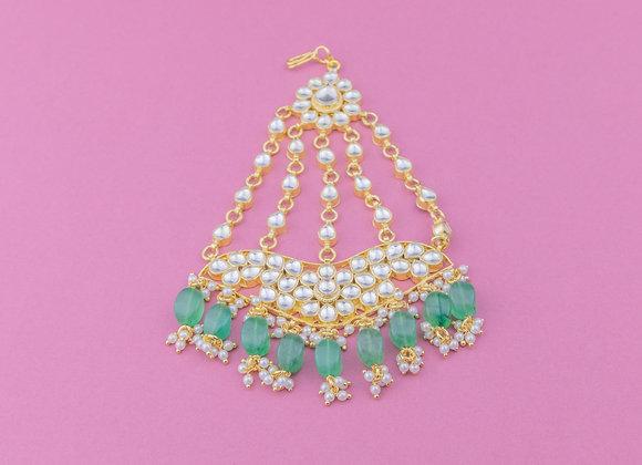 Emerald Chains Passa Head Piece