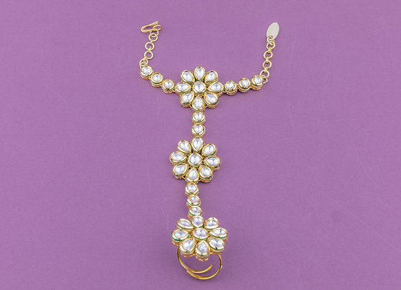 Kundan Statement Hand Harness