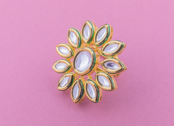 Marquise Flower Kundan Ring