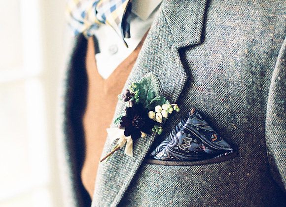 Brocade Pocket Square x5
