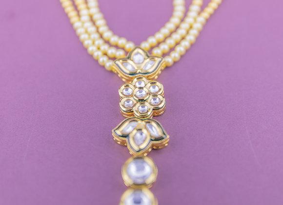 Kundan Pearls Hand Harness