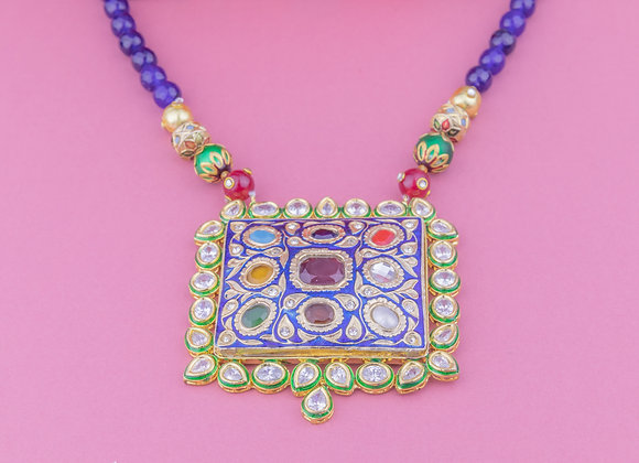 Regal Mala Necklace - Sapphire