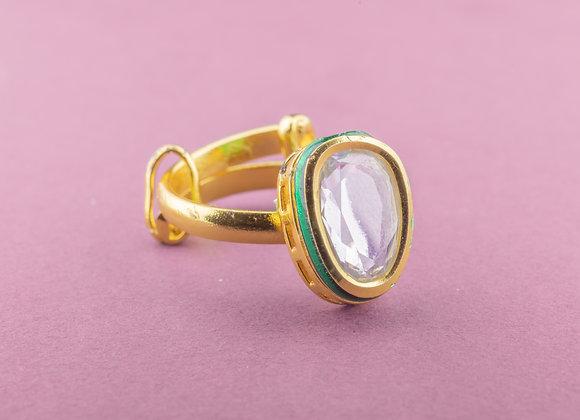 Tip Toe Kundan Ring - Petal