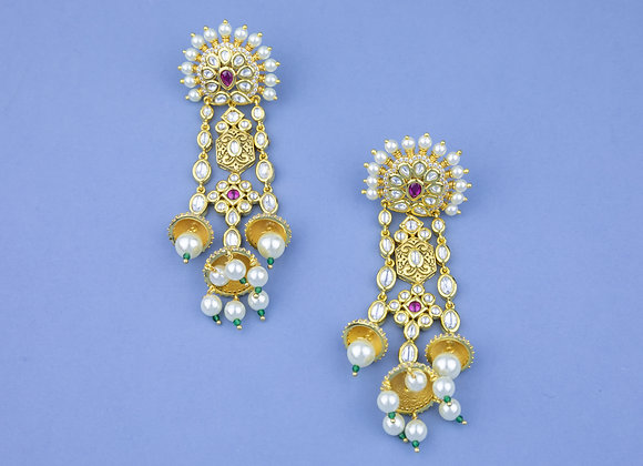 Kunan Jhoomar Earrings (available in 2 colours)