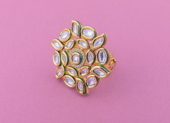 Statement Kundan Ring (available in 3 colours)