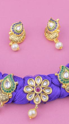 Blue: Silk Flower Necklace