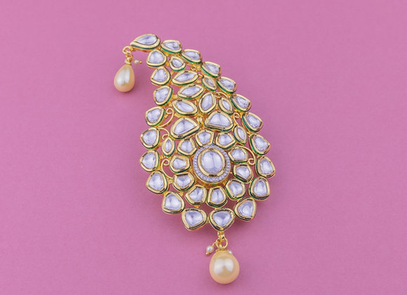 Statement Kundan Bindi Kalgi (available in 2 colours)