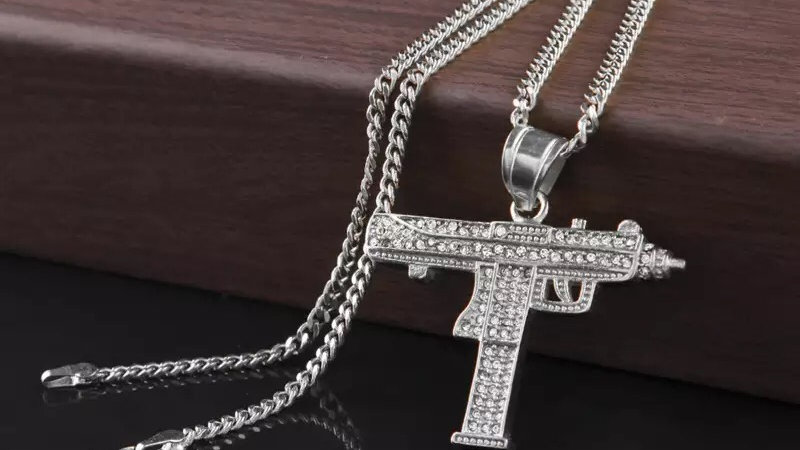 Iced out uzi chain