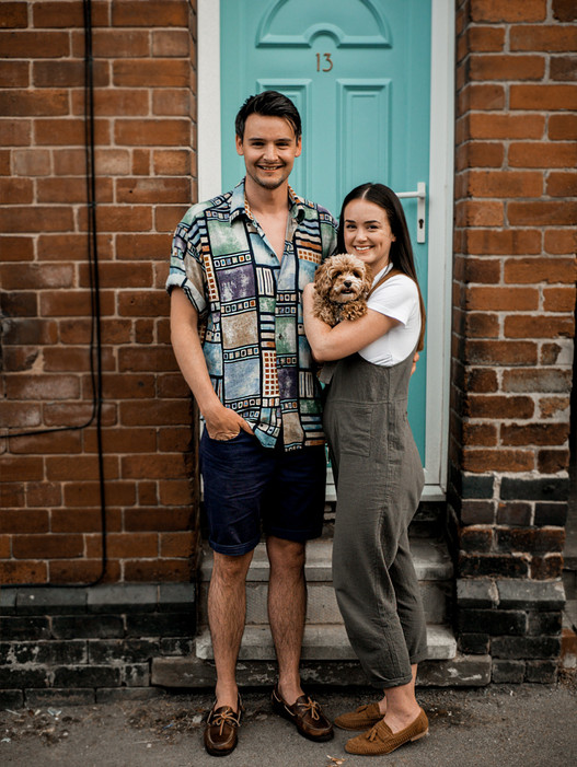 Couple Portrait with Dog Photography by G & A Media Photography Sheffield