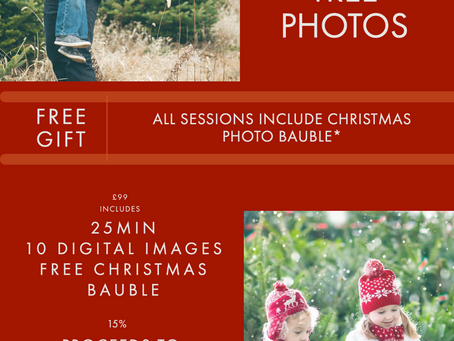 Christmas Photo Sessions Longshaw Estate - Snow Globe
