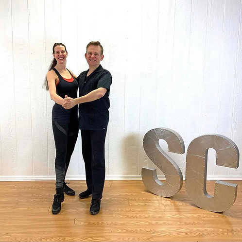 BOTH FORMATS- Couple's Salsa + Bachata, 4 week session