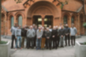 Group picture in front of The Tabernacle concert hall in Notting Hill, 29 october 2018