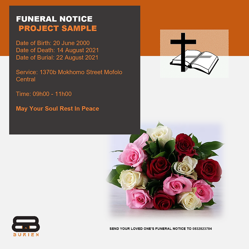 Funeral Notice Of The Late Project Sample
