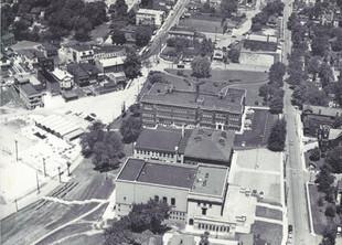 Aerial View of St. Bernard Schools