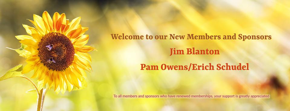 New Members and Sponsors