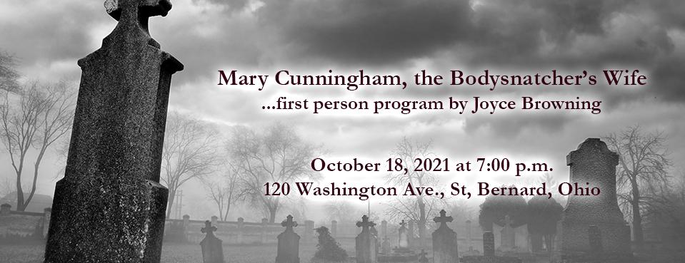 Mary Cunningham, the Bodysnatcher's Wife