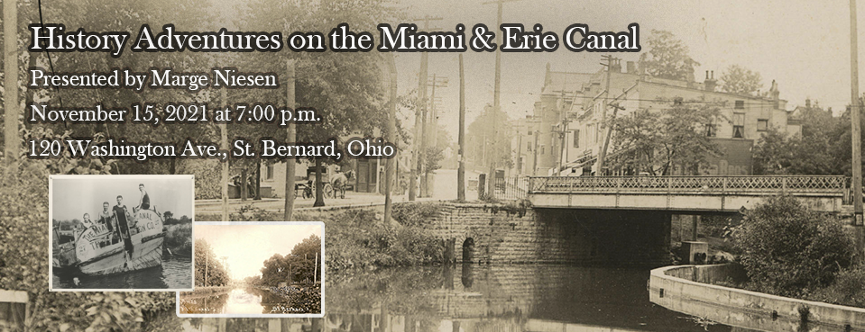 History Adventures on the Miami & Erie Canal, November 15th at 7:00 p.m.