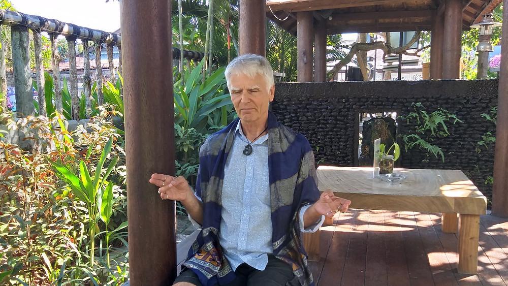 Trance medium channeler Francis Evans channeling Mercredan