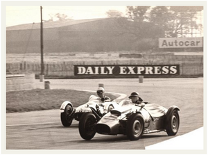 Yimkin overtaking a Terrier at Silverstone, 1963