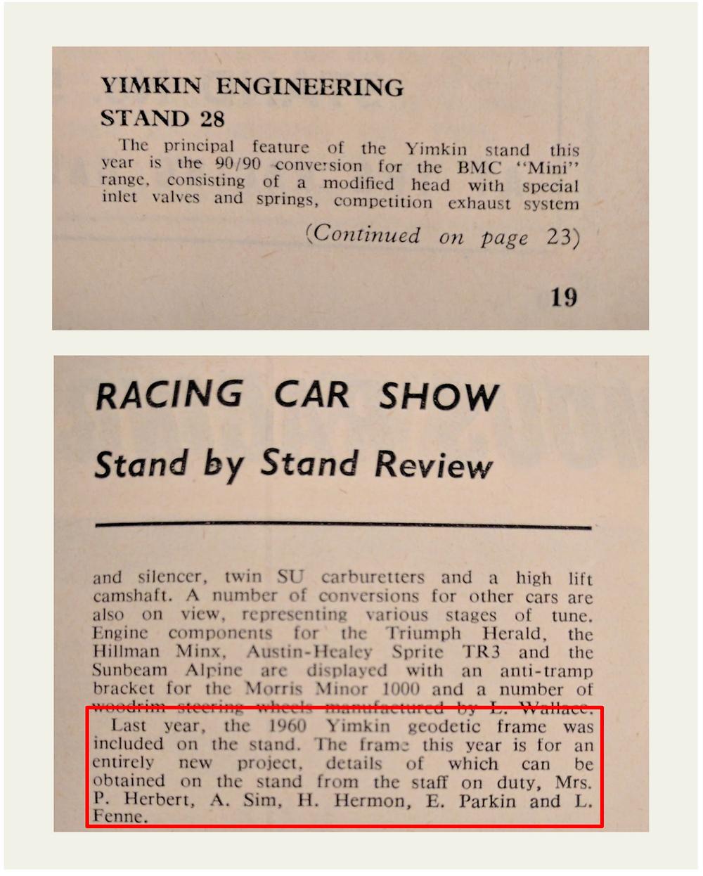 Motor Racing Magazine, Racing Car Show Issue, Yimkin, Don Sim