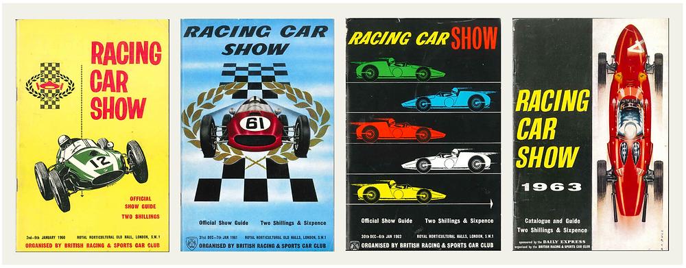 1960 Racing Car Show, 1961 Racing Car Show, 1962 Racing Car Show, 1963 Racing Car Show