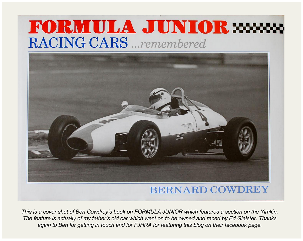 Ben Cowdrey Formula Junior Racing Cars remembered