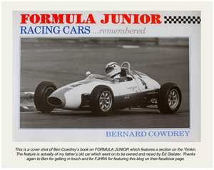 Ben Cowdrey Formula Junior Racing Cars remembered