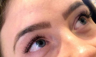 Natural individual eyelash extensions 💕