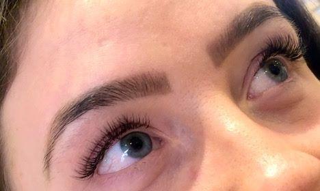 Natural individual eyelash extensions 💕