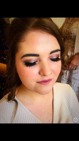 Bridesmaid makeup look from today's wedd