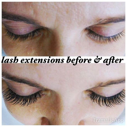 Eyelash extensions before and after 👀.j