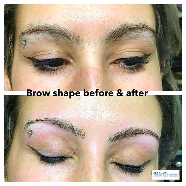 Brow wax & shape - before & after pic.jp