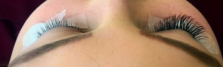 lash extensions pic - showing before and
