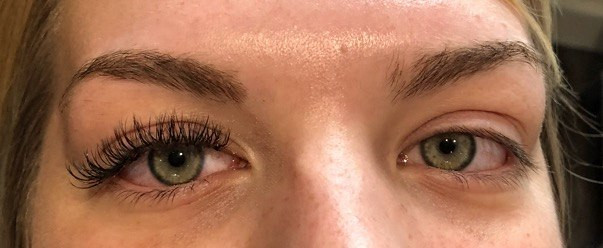 Lashes extensions_ half a face before, h